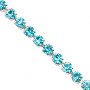 Rhinestone chain Turquoise Blue-Silver
