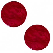 12 mm flat Polaris Elements cabochon Lively Rubino Red