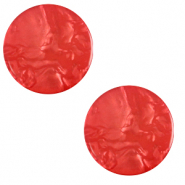 12 mm flat Polaris Elements cabochon Lively Ibisco Red