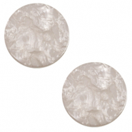 12 mm flat Polaris Elements cabochon Lively Acciaio Grey