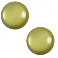 7 mm classic Polaris Elements cabochon soft tone Origano Green