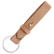 Cuoio key chain 15 mm Toasted Nut Brown