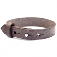 15mm leather Cuoio bracelets for 20mm cabochon Graphite Brown