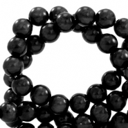 Polaris beads round 8 mm pearl shine Nero Black