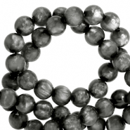 Polaris beads round 8 mm pearl shine Carbone Black