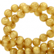 Polaris beads round 8 mm pearl shine Curry Yellow