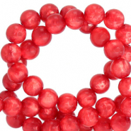 Polaris beads round 8 mm pearl shine Ibisco Red
