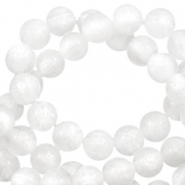 Polaris beads round 8 mm pearl shine Bianco White