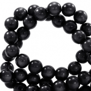 Super Polaris beads round 6 mm Nero Black