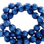 Super Polaris beads round 6 mm Iolite Blue