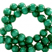 Super Polaris beads round 6 mm Agate Green