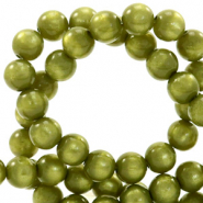 Super Polaris beads round 8 mm Origano Green