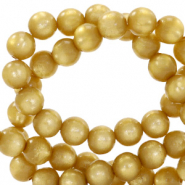 Super Polaris beads round 8 mm Curry Yellow