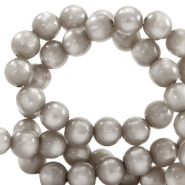 Super Polaris beads round 6 mm Acciaio Grey