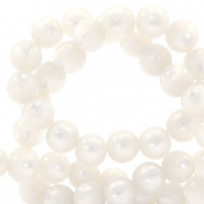 Super Polaris beads round 8 mm Bianco White
