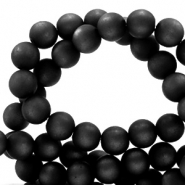 Super Polaris beads round 10 mm matt Nero Black