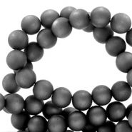 Super Polaris beads round 6 mm matt Carbone Black
