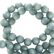 Super Polaris beads round 6 mm matt Acquario Blue