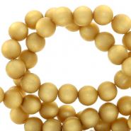 Super Polaris beads round 8 mm matt Curry Yellow