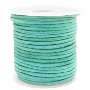 Benefit package DQ leather round 3 mm Antique Turquoise Green