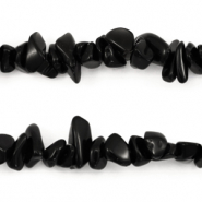 Chips stone beads Jet Black