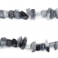 Chips stone beads Anthracite grey