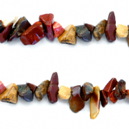 Chips stone beads Multicolour Red-Brown