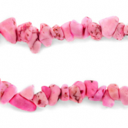 Chips stone beads Carmine Pink