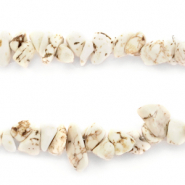 Chips stone beads Marble Off White