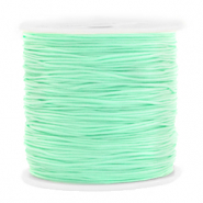 Macramé bead cord 0.8mm Light Turquoise Green