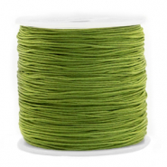 Macramé bead cord 0.8mm Olive Green