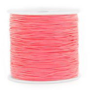 Macramé bead cord 0.8mm Salmon Rose