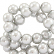 Top quality Glass pearls 4 mm Grey
