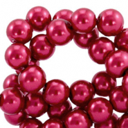 Top quality Glass pearls 4 mm Ruby Wine Red