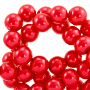 Top quality Glass pearls 8 mm Cherry Red