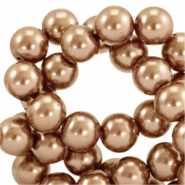 Top quality Glass pearls 8 mm Copper Brown