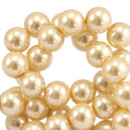 Top quality Glass pearls 8 mm Rich Gold