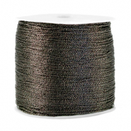 Macramé bead cord metallic 0.5mm Anthracite