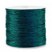 Macramé bead cord metallic 0.5mm Forrest Green