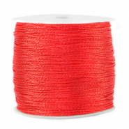 Macramé bead cord metallic 0.5mm Fiery Red