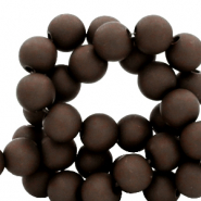 4 mm acrylic beads matt Rocky Road Brown