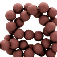 4 mm acrylic beads matt Fired Brick Brown