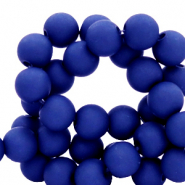 6 mm acrylic beads matt Dark Princess Blue