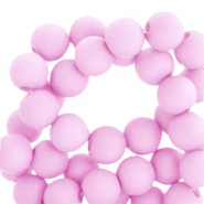 4 mm acrylic beads matt Pink
