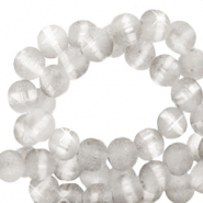 4 mm glass beads mat holographic line Light Grey