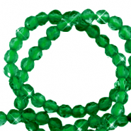2 mm natural stone faceted beads crystal Emerald Green
