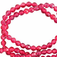 2 mm natural stone faceted beads crystal Ruby Pink