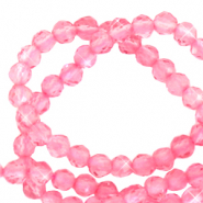 2 mm natural stone faceted beads crystal Carnation Pink