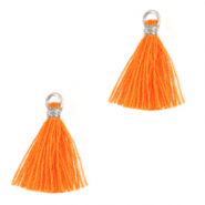 Tassels 1.5cm Silver-Flame Orange