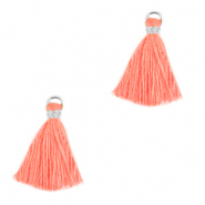 Tassels 1.5cm Silver-Canyon Sunset Pink